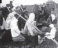 1930-е. Собрание крестьян одного из колхозов по случаю подписания Государственного займа, Донецкая область.jpg