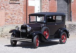 Ford Model A of 1927–1931 (also colloquially called the A-Model Ford or the A, and A-bone among rodders and customizers)
