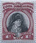 1932 Cook Islands James Cook 1d.jpg
