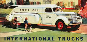 International Harvester - Advertisement for 1940 International Tanker Truck
