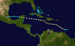 1944 Atlantic hurricane 4 track.png