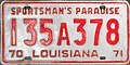 1970-71 Louisiana license plate.jpg