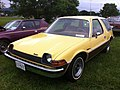 1977 AMC Pacer DL station wagon yellow-a Mason-Dixon Dragway 2014.jpg