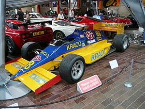 Michael Andretti - Andretti's first race winning Indy Car, now at National Motor Museum, Beaulieu, England.