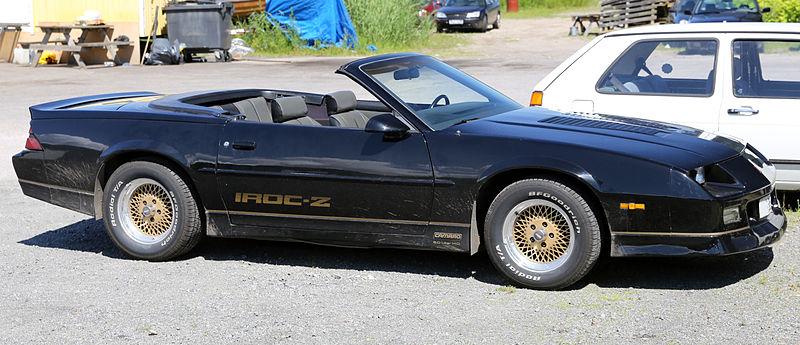 [Image: 800px-1988_Chevrolet_Camaro_IROC-Z_convertible.jpg]