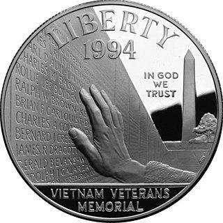 Vietnam Veterans Memorial silver dollar 1994 U.S. commemorative coin