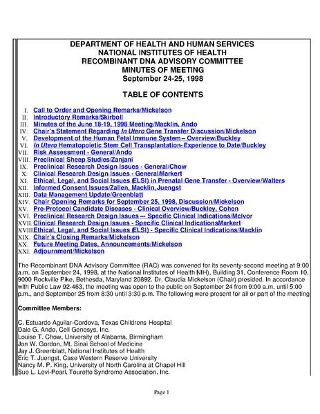 File:1998 September 24 HHS NIH Recombinant DNA Advisory Committee meeting minutes.pdf