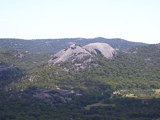 Girraween National Park - Granite domes known as the Pyramids