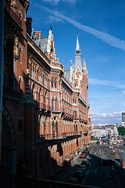 The former Midland Grand Hotel at the front of St Pancras railway station.