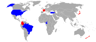 2003 FIFA Confederations Cup - 2003 FIFA Confederations Cup participating teams Red – Participated in Group A Blue – Participated in Group B
