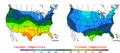 2006-03-06 Color Max-min Temperature Map NOAA.png