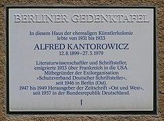 2006-07-24 Gedenktafel Alfred Kantorowicz Kreuznacher Str 48