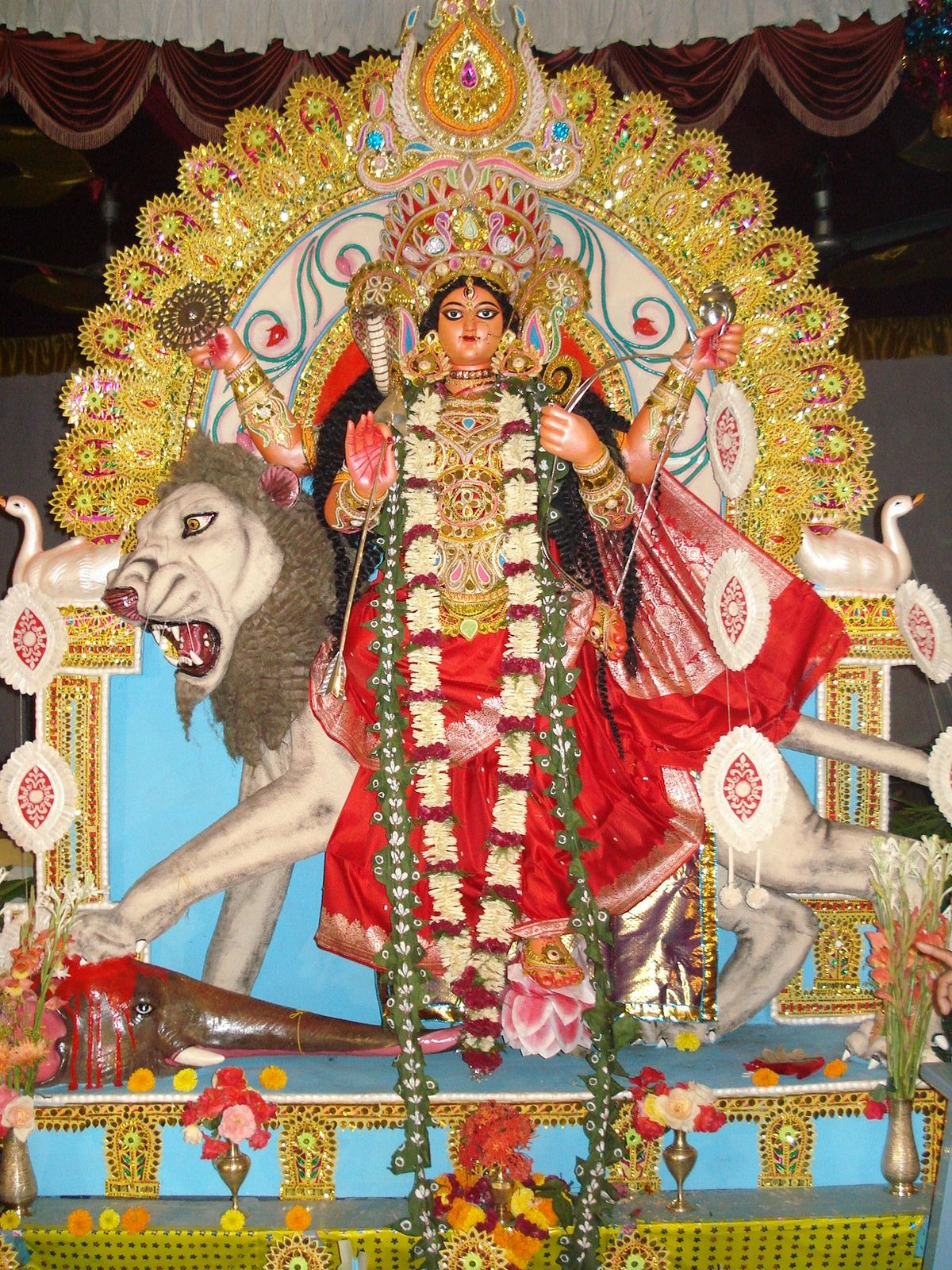 Jagaddhatri - Wikipedia