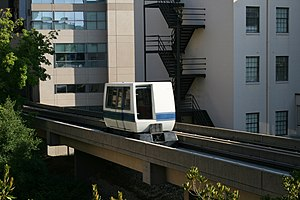 Duke University Medical Center Patient Rapid Transit - Image: 2008 07 24 Duke Hospital PRT 4
