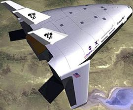 Simulated in-flight view of the X-33