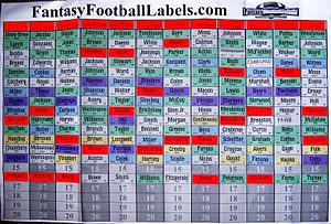 Fantasy league draft results