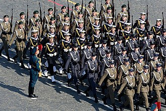 Representative Honor Guard Battalion of the Polish Armed Forces - Image: 2010 Moscow Victory Day Parade 28
