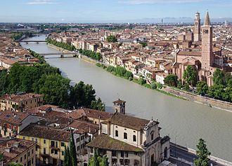 Adige - The Adige in Verona