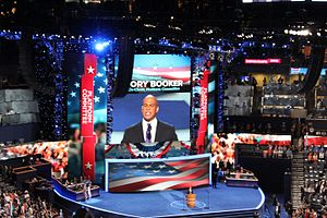 2012 Democratic National Convention - Cory Booker speaks at the convention