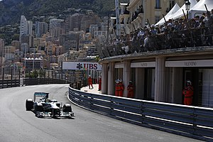 2013 Monaco Grand Prix - Nico Rosberg in the Massenet curve