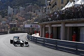 2013 Monaco Grand Prix - Nico Rosberg in the Massenet curve