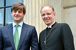 Prince Ernst August of Hanover (born 1983) - Ernst August (left) and Ralf Meister, Bishop of Hanover, in 2014