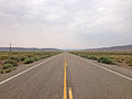 2014-07-17 10 48 15 View west along U.S. Route 6 about 77.2 miles east of the Esmeralda County Line in Nye County, Nevada.JPG