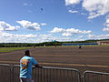 2014-08-24 15 05 47 Skydivers parachuting to the ground at Pennridge Airport in East Rockhill Township, Pennsylvania.JPG