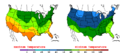 2015-10-04 Color Max-min Temperature Map NOAA.png