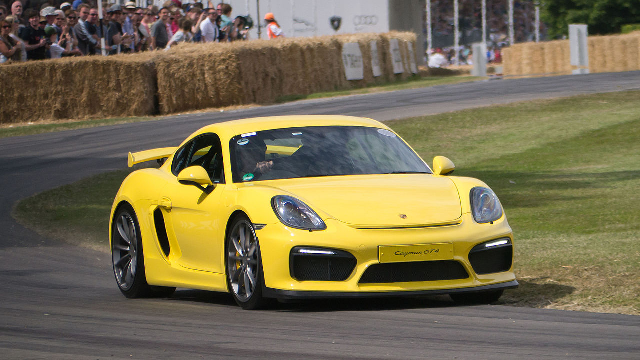 File 2015 Porsche Cayman Gt4 On Track Jpg Wikimedia Commons