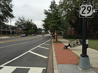 U.S. Route 29 in the District of Columbia - View south along US 29 on Georgia Avenue