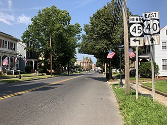 Woodstown, New Jersey - U.S. Route 40 and Route 45 serve Woodstown
