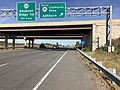 2019-09-20 10 09 49 View west along Virginia State Route 7 (Harry Byrd Highway) at the exit for Virginia State Route 901 SOUTH (Claiborne Boulevard, Ashburn) on the edge of Lansdowne and Ashburn in Loudoun County, Virginia.jpg