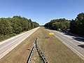 2019-09-25 15 05 34 View east along Maryland State Route 100 (Paul T. Pitcher Memorial Highway) from the overpass for Edwin Raynor Boulevard in Pasadena, Anne Arundel County, Maryland.jpg