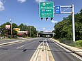 2020-06-22 10 16 24 View west along Maryland State Route 450 (West Street) at the exit for U.S. Route 50 WEST (Washington) and Interstate 97 NORTH (Baltimore) in Parole, Anne Arundel County, Maryland.jpg