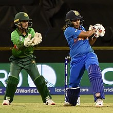 Krishnamurthy batting for India during the 2020 ICC Women's T20 World Cup