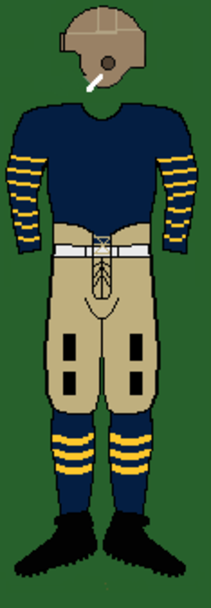 1920 California Golden Bears football team - Image: 20scaliforniauniform