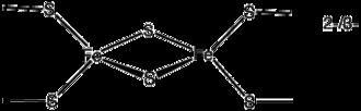 Iron–sulfur protein - Image: 2Fe 2S