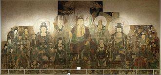 Paradise of Maitreya - Image: 3 Zhu Haogu and Zhang Boyuan. The Paradise of Maitreya. ca. 1320. Royal Ontario Museum