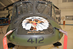 438 Tactical Helicopter Squadron - Wildcat mascot nose art on CH-146 Griffon