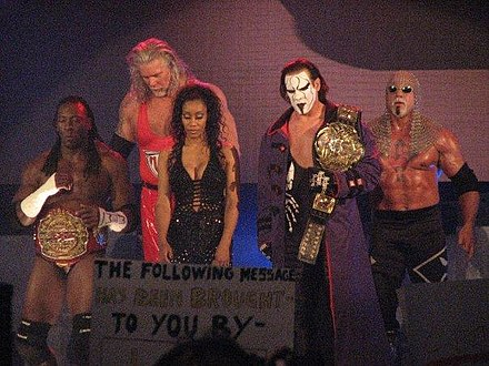 Nash with The Main Event Mafia 5 Main Event Mafia members.jpg