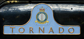 60163 Tornado left side nameplate RAF Leeming crest pic 2.jpg