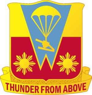 674th Airborne Field Artillery Battalion - Image: 674 FA DUI