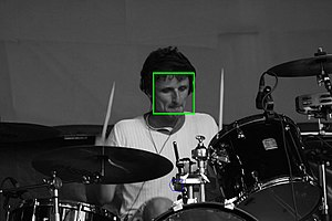 Pattern recognition - The face was automatically detected by special software.