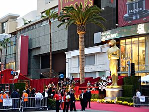 The red carpet at the intersection of Hollywoo...