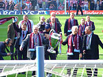 82 winning squad at Villa part during the 25 year celebrations