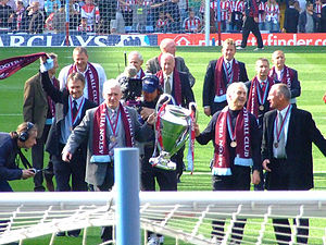 History of Aston Villa F.C. (1961–present) - The 1982 European Cup winning squad at Villa Park during the 25 year anniversary celebrations