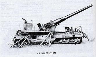 8-inch Mk. VI railway gun - 8-inch MkVIM3A2 railway gun