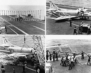 A-4B VSF-3 crash landing in USS Intrepid (CVS-11) 1967.jpg