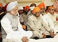A.P.J. Abdul Kalam and the Prime Minister, Dr. Manmohan Singh attend a programme of Gurbani, recital by Bhai Saheb Gurkirat Singh, Hazoori Ragi, Sri Harmandir Sahib, Amritsar.jpg
